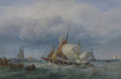 E.Duncan - 'Oyster Dredgers off The Mumbles'